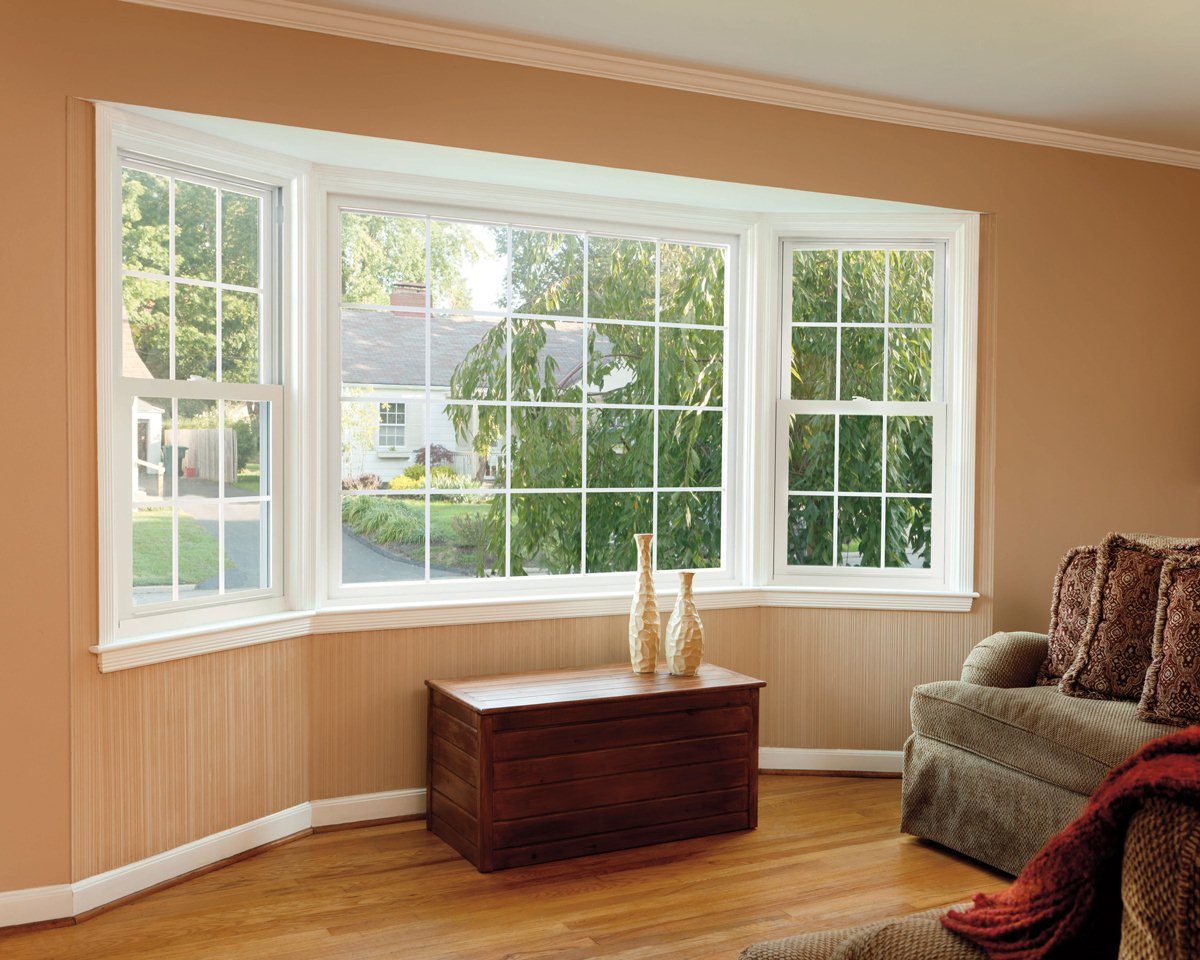 Vinyl windows for Window design on wall